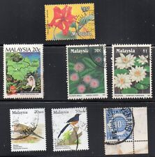 stamps MALAYSIA A77 A153 A155(2) A340(2) D1 SET LOT includes MNH