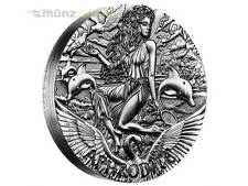 2 $ Dollar Goddesses of Olympus Aphrodite High Relief Tuvalu Silber 2015