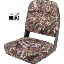 Camo Folding Boat Seat for Hunting Boating Bass Fishing in Real Tree Max-5