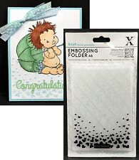 FALLING HEARTS Xcut embossing folders Cuttlebug Compatible Valentine's wedding