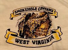 Vintage 70s WEST VIRGINIA Smokehole Caverns 50/50% Soft Thin T Shirt. Size L