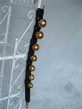7 Bell Solid Brass Sleigh Bells Heavy Double Strap