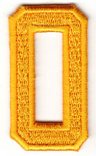 "NUMBERS- Golden Yellow Number ""0"" (1 7/8"") - Iron On Embroidered Applique/Number"