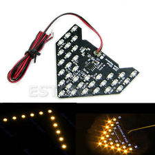 Yellow 33-SMD LED Arrow Panels Car Mirror Side Turn Signal Indicator Light