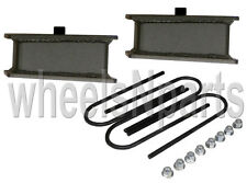 "3"" lowering blocks fab steel rear axle u bolts drop kit 1999-2014 import trucks"