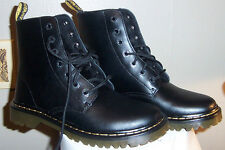 New DR MARTENS DOC LUANA AIRWAIR BLACK LACE UP COMBAT BOOTS WOMENS 10