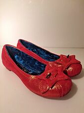 Irregular Choice Metallic Coral Quilted Flats Shoes With Stars US 8 EUR 39 EUC