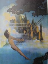 "Maxfield Parrish Art ""The Dinky Bird"" 1974 Issue Large Book Plate Reproduction !"