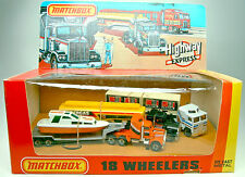 "MATCHBOX convoi Giftset"" 18 les wheeler ""usa 1982 dioramabox"
