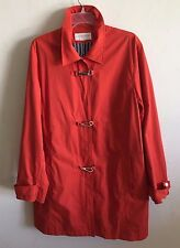 Liz Claiborne Lizsport Rain Coat Trench Coat Snap & Buckle Lined XL