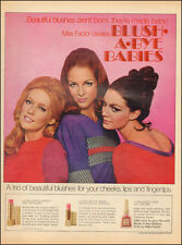 1969 Vintage ad for Max Factor`Blush`60's Fashion, Pretty Models (051514)