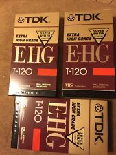 TDK EHG Extra High Grade T-120 VHS Tapes Sealed Avilyn Technology Lot Of 3