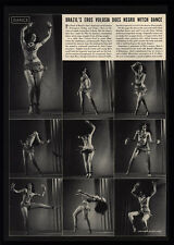 1941 EROS VOLUSIA Negro Witch Dance - 2 Page Magazine Article & Art Photos