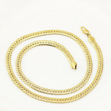 Mens Jewellery 18 k Gold Plated Necklace for Men or Women Chain Width 5 mm N295