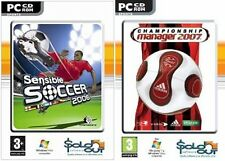 championship manager 2007 & sensible soccer 2006   new&sealed