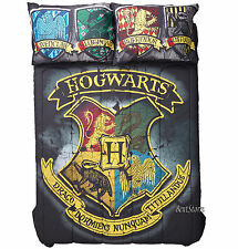 "Harry Potter Hogwarts Wizard School Crest FULL/QUEEN Comforter 81""x86"" Bedding"
