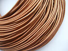 100% Real 2mm Round Metallic Copper Leather Cord String Lace Thong Jewellery