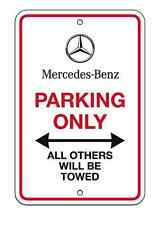 "New Genuine Mercedes Parking Only Sign 12"" X 8"" OEM Benz Metal w/ Hardware"