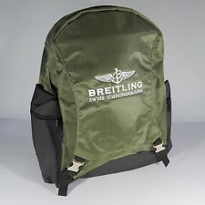 Breitling Luxury Military Green And Black Backpack Bag Very Rare 2017
