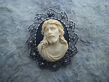 2 IN 1 JESUS CAMEO BROOCH/PIN/PENDANT!! XMAS, HOLIDAY!! LORD, GOD, RELIGIOUS