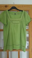BHS Lime Green Short Sleeved Top, Size 10, Good used Condition