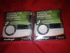 2 x White  Fire Angel digital LCD carbon monoxide detector alarm  new sealed