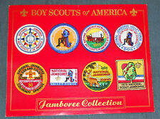 1937 - 1973 National Boy Scout Jamboree Reproduction Patch Set Mounted