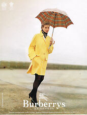 PUBLICITE ADVERTISING 074  1996   BURBERRYS OF LONDON  trench-coat imperméable