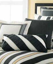 Martha Stewart Tuxedo Stripe Decorative Throw Pillows Set Black/White- MSRP $100