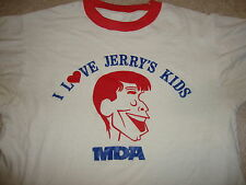 Vintage 80s I LOVE JERRY'S KIDS MDA RINGER lewis telethon comedy thin T Shirt M