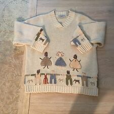 Anthropologie Northern Isle Hand Embroidered Sweater Size Medium