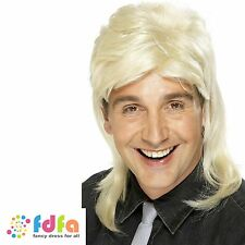 1980s BLONDE SHORT MULLET WIG JASON DONOVAN - mens fancy dress costume
