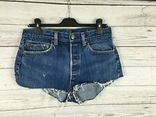 Womens Levi 501 Reworked Denim Hotpants/Shorts - W30 - Navy - Good Condition