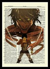 Eren Attack On Titan Anime Dictionary Art Print Poster Picture Book Japan Manga