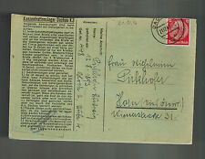 1941 Germany Dachau Concentration Camp Cover with Letter KZ Ludwig Pirckhofer