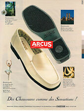 PUBLICITE ADVERTISING 025  1998  ARCUS   chaussures  confort  SENSATION