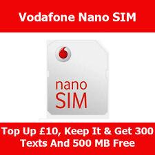 VODAFONE UFFICIALE NANO SIM CARD PER APPLE IPHONE 5 per VODAFONE pagamento a servizio