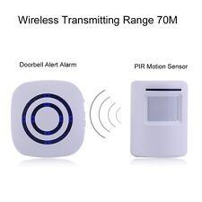 Wireless Digital Doorbell with PIR Sensor Infrared Induction Alarm Door Bell#JS~
