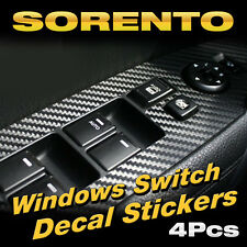 Interior Windows Switch Carbon Decal Sticker Black For KIA 2010 - 2012 Sorento R