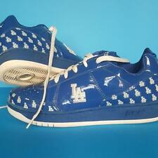 Rare LA DODGER BLUE Reebok SNEAKERS Baseball RBK Patent SHOES MLB Authentic 11.5