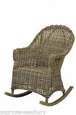 TOBS Furniture Natural Grey thick Rattan Rocking Chair Conservatory seat  82