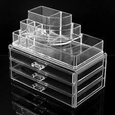 Beautify Clear Acrylic 4 Drawers Cosmetic Makeup Display Storage Table Organiser