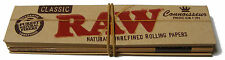 1 PACK OF RAW KING SIZE CIGARETTE ROLLING PAPERS & TIPS (32 PAPERS + 32 TIPS)