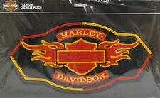 HARLEY DAVIDSON Flame Chenille BACK PATCH (XXL) PATCH