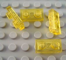 New LEGO Lot of 4 Translucent Yellow 1x2 Plate Space Parts and Pieces