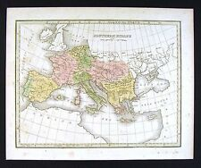 1835 Bradford Map - Southern Europe - Spain Italy Greece Austria Portugal France