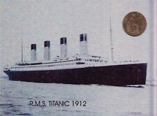 "TITANIC WITH 1912 COIN METAL WALL PLAQUE / SIGN 8"" X 6"" WITH FIXING PADS"