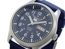 SEIKO 5 SNZG11 SNZG11K1 Army Nylon Navy Original Box Free Ship