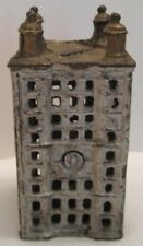 Beautiful Antique Cast Iron Toy Skyscraper Building Bank 164 Windows 1900s-1920