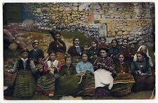 BULGARIA Bulgarian PC Postcard PEASANTS Costume TRADITIONAL Bratzigowo KRANZCHEN